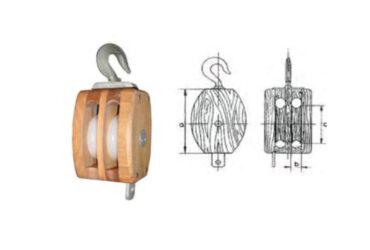 Cuadernal de madera con gancho giratorio