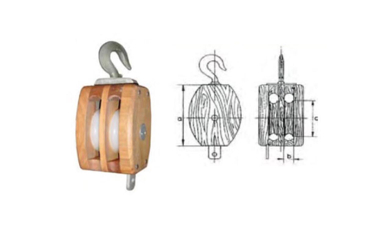 Cuadernal de madera con gancho giratorio-2