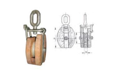 Pasteca de madera con ojo giratorio