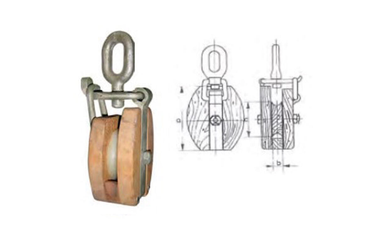Pasteca de madera con ojo giratorio-2
